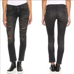 AGOLDE NWT Chloe Low Rise Distressed Jeans